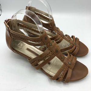 New Directions | Kitten Wedge Summer Sandals 9.5
